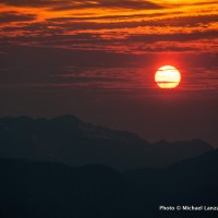 Sunset from Liberty Cap, Glacier Peak Wilderness.