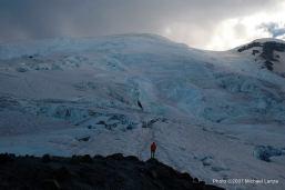 Camp Schurman on Mount Rainier.