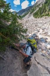 Descending to Newton Creek.