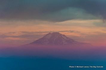 Sunrise view of Mount Adams.