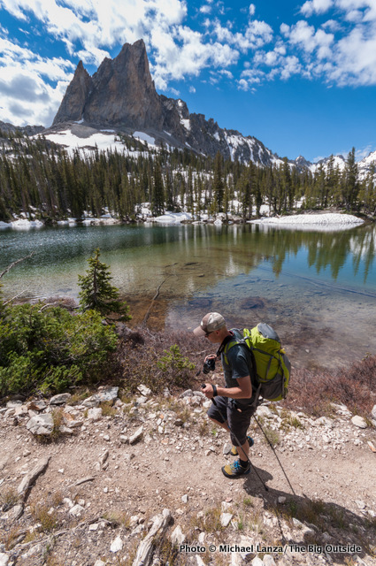 Chip Roser backpacking in Idaho's Sawtooth Mountains.