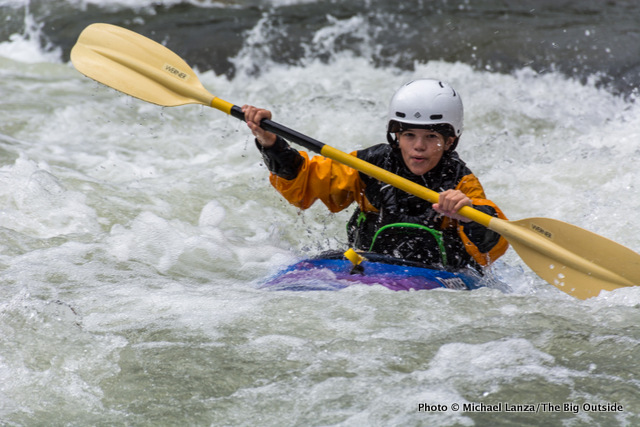 My 14-year-old son, Nate, kayaking Idaho's Middle Fork of the Salmon River.