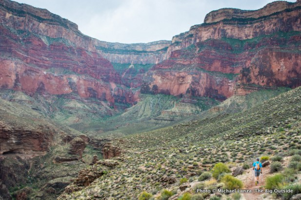 Hiking up Monument Creek Canyon.