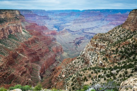 Looking down the Hermit Trail, Grand Canyon.