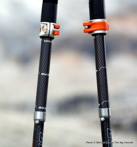 Leki Micro Vario Carbon trekking poles.