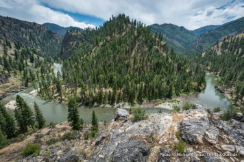 Overlook above Marble Rapid, Middle Fork Salmon.