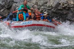 Matt's boat in Cliffside Rapid.
