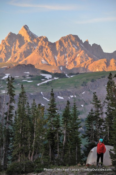 Death Canyon Shelf, Grand Teton National Park, one of my 25 favorite backcountry campsites.