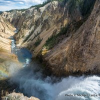 The brink of Lower Yellowstone Falls, Grand Canyon of the Yellowstone River, Yellowstone National Park.