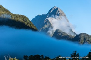 Morning fog, Milford Sound, Fiordland National Park, New Zealand.