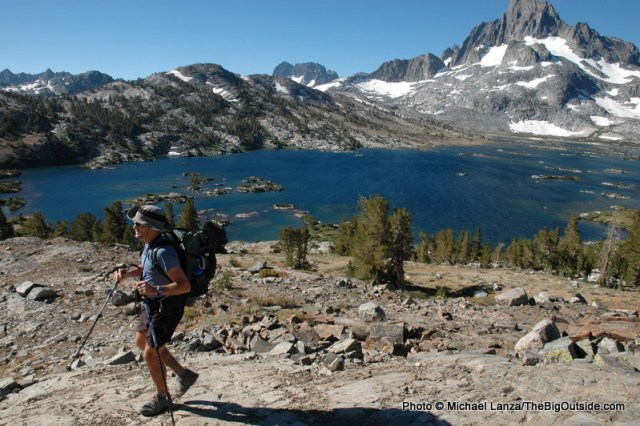 Todd Arndt above Thousand Islands Lake on the John Muir Trail.