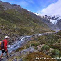 Trekking the Cascade Saddle route, Mount Aspiring National Park, New Zealand.