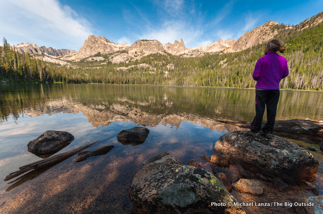 My daughter, Alex, at Hell Roaring Lake, Sawtooth Mountains, Idaho.
