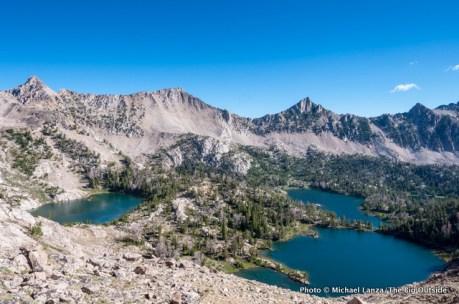 Upper Boulder Chain Lakes, White Cloud Mountains.
