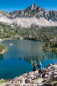 Hiking to the upper Boulder Chain Lakes, White Cloud Mountains, Idaho.