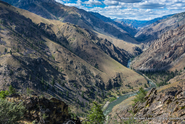 The view from Johnson Point of the Middle Fork Salmon River, Idaho.