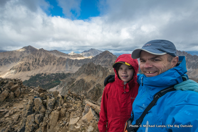 My son, Nate, and me in Idaho's White Cloud Mountains.