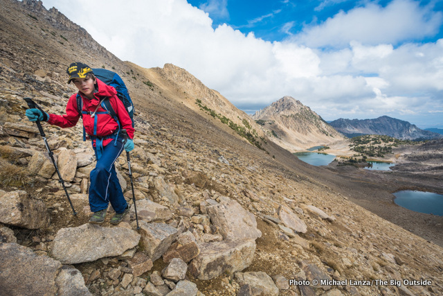 My son, Nate, backpacking in Idaho's White Cloud Mountains.