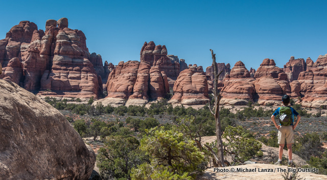 Hiking the Chesler Park Trail, Needles District, Canyonlands National Park.