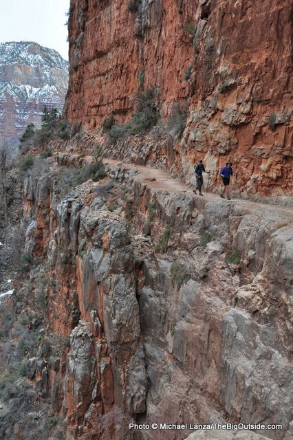 Hikers on the North Kaibab Trail in the Grand Canyon.