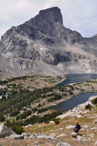 Todd Arndt below Lizard Head Peak on a 27-mile dayhike across Wyoming's Wind River Range.