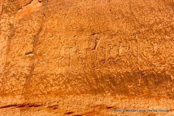 Petroglyphs in Canyon de Chelly.