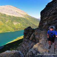 Jerry Hapgood on the Gunsight Pass Trail, Glacier National Park.