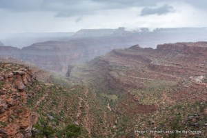 Rain on the first day, Royal Arch Loop, Grand Canyon.