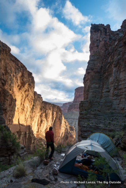 At a campsite near Royal Arch in the Grand Canyon.
