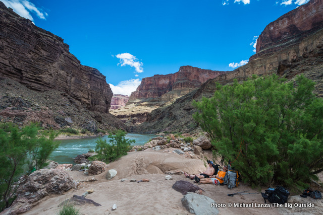 Toltec Beach, Royal Arch Loop, Grand Canyon.