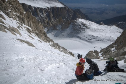 The Mountaineers Route gully.