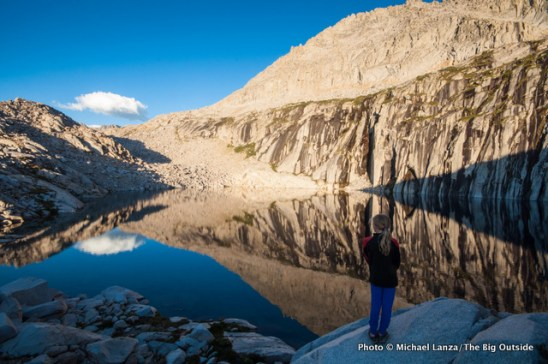 A young girl at Precipice Lake in Sequoia National Park.
