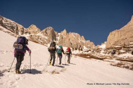 Second day hiking to high camp.