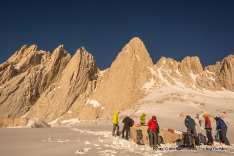 Below the Mountaineers Route, Mount Whitney.