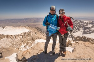 Nate and me on summit of Mount Whitney.