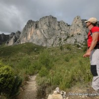 José Miguel Garcia trekking in southern Spain's Aitana Mountains.
