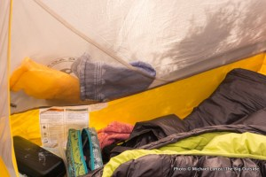 Big Agnes Fly Creek HV UL3 mtnGLO inside pocket.