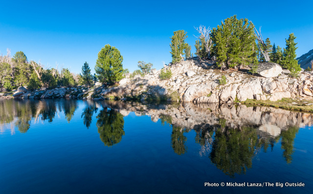 An unnamed tarn in the Big Boulder Lakes in Idaho's White Cloud Mountains.