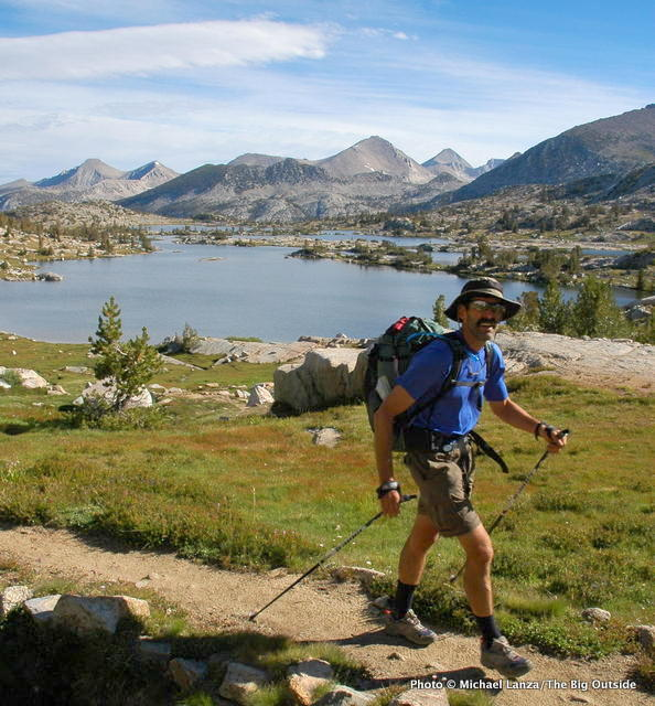 Above Marie Lake on the John Muir Trail.