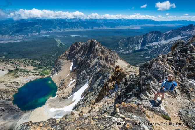 Summit of Thompson Peak, Sawtooth Mountains, Idaho.