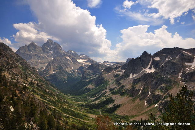 The North Fork of Cascade Canyon, Grand Teton National Park.