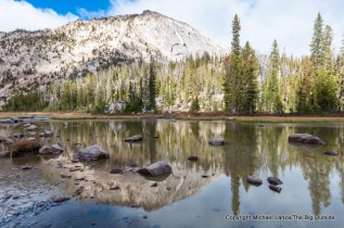 Unnamed tarn below McGown, Sawtooth Mountains, Idaho.