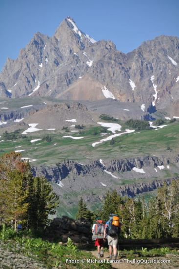 Teton Crest Trail on Death Canyon Shelf, Grand Teton National Park.