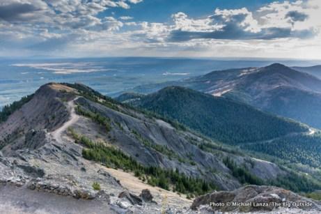 View from Mount Washburn, Yellowstone.