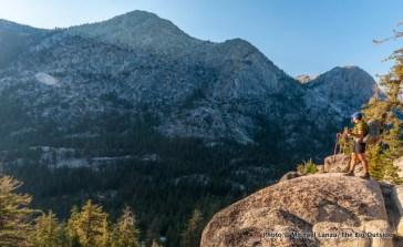The PCT above Matterhorn Canyon, Yosemite.