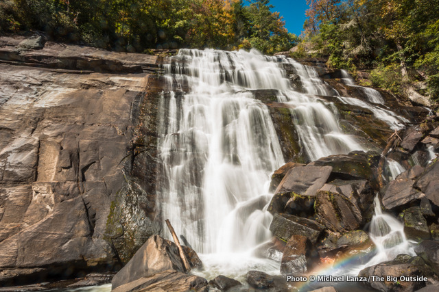 Rainbow Falls, Gorges State Park and Pisgah National Forest.