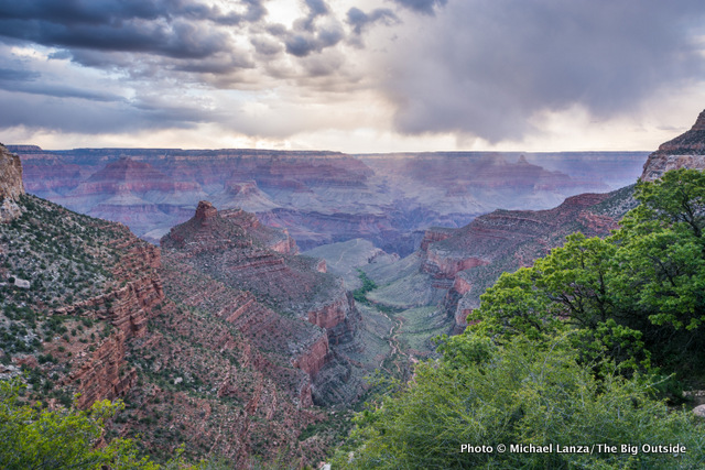 The view from high up the Bright Angel Trail, Grand Canyon National Park.