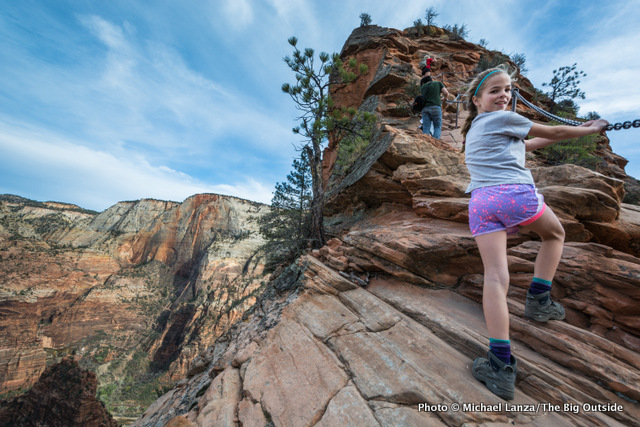 My daughter, Alex, hiking Angels Landing in Zion National Park.