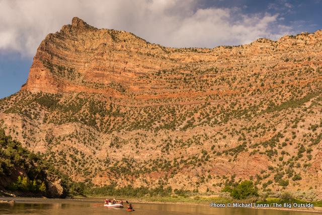 Floating the Green River's Gates of Lodore section through Dinosaur National Monument.