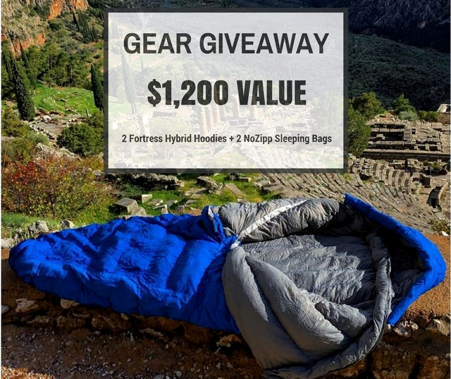 Nozipp sleeping bag giveaway.
